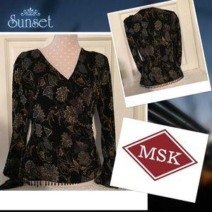 MSK Formal Embellished top Sz Lg